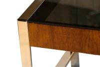 Mid Century Chrome Smoked Glass Side Table Milo Baughman ...
