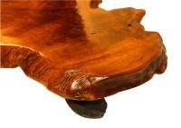 Mid Century Live Edge Wood Tree Slab Coffee Table