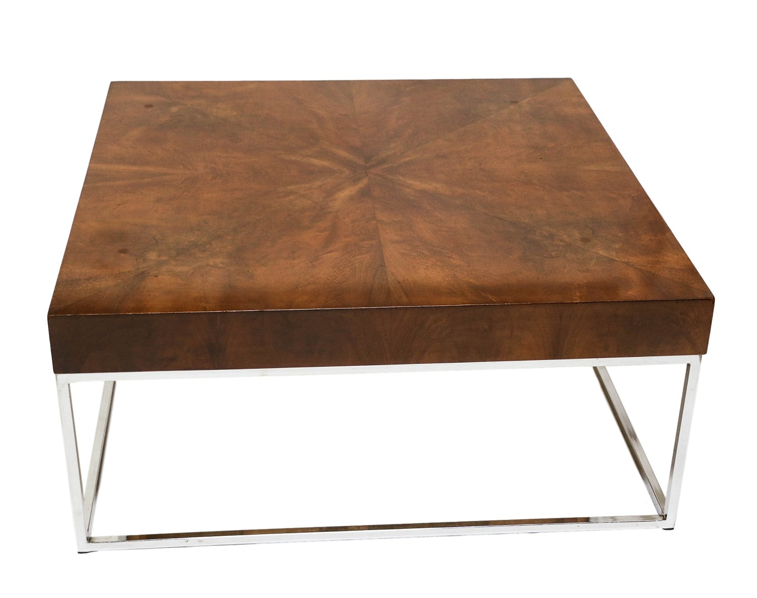 Modern Contemporary Square Coffee Tables Mid Century Modern Walnut Chrome Square Coffee Table
