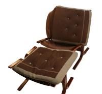 Mid Century Westnofa Siesta Rosewood Lounge Chair Ottoman