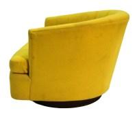 Mid-Century Yellow Swivel Tub Chair Milo Baughman Style