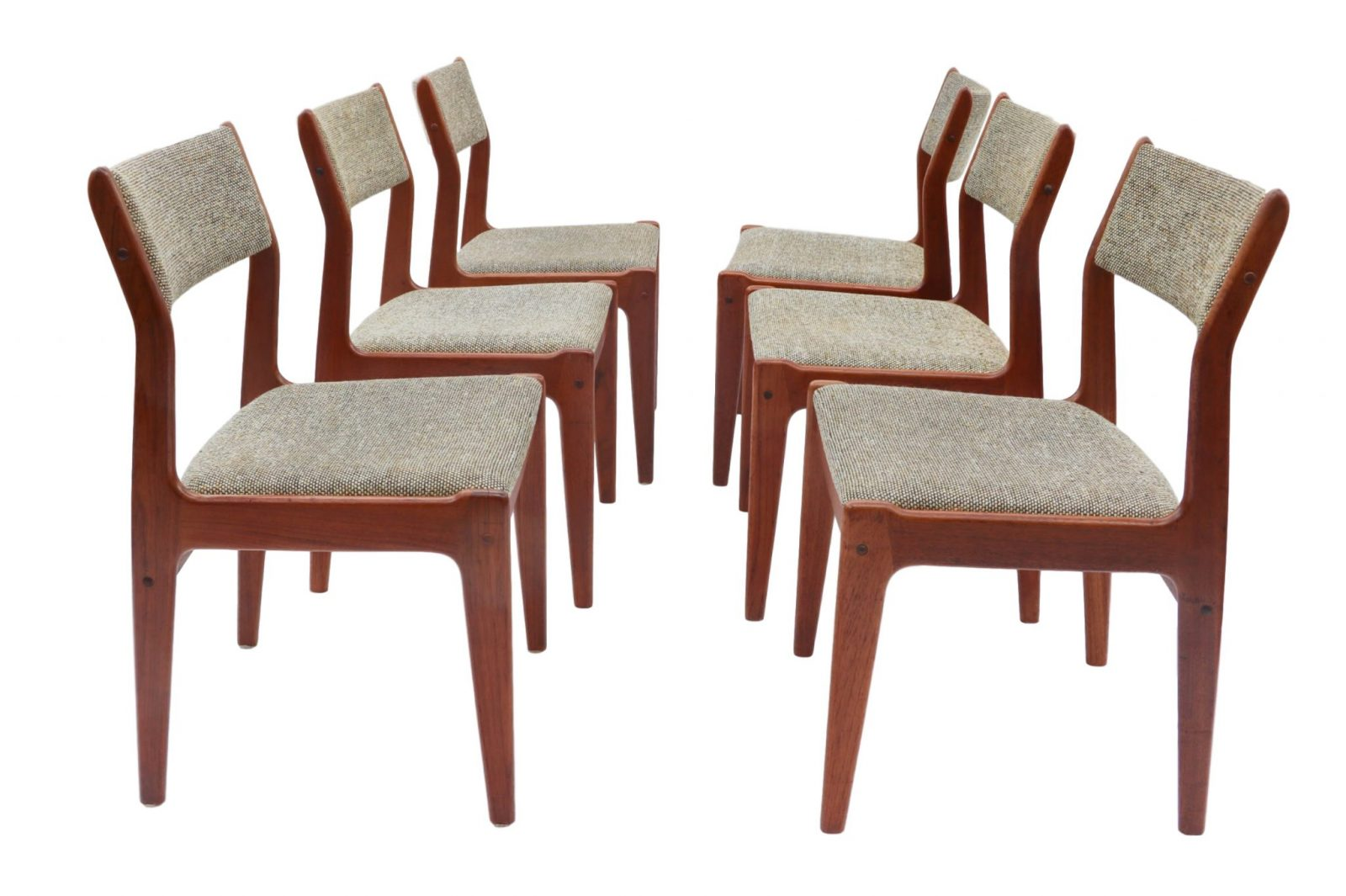 Scandinavian Chair Six Scandinavian Teak Danish Dining Chairs