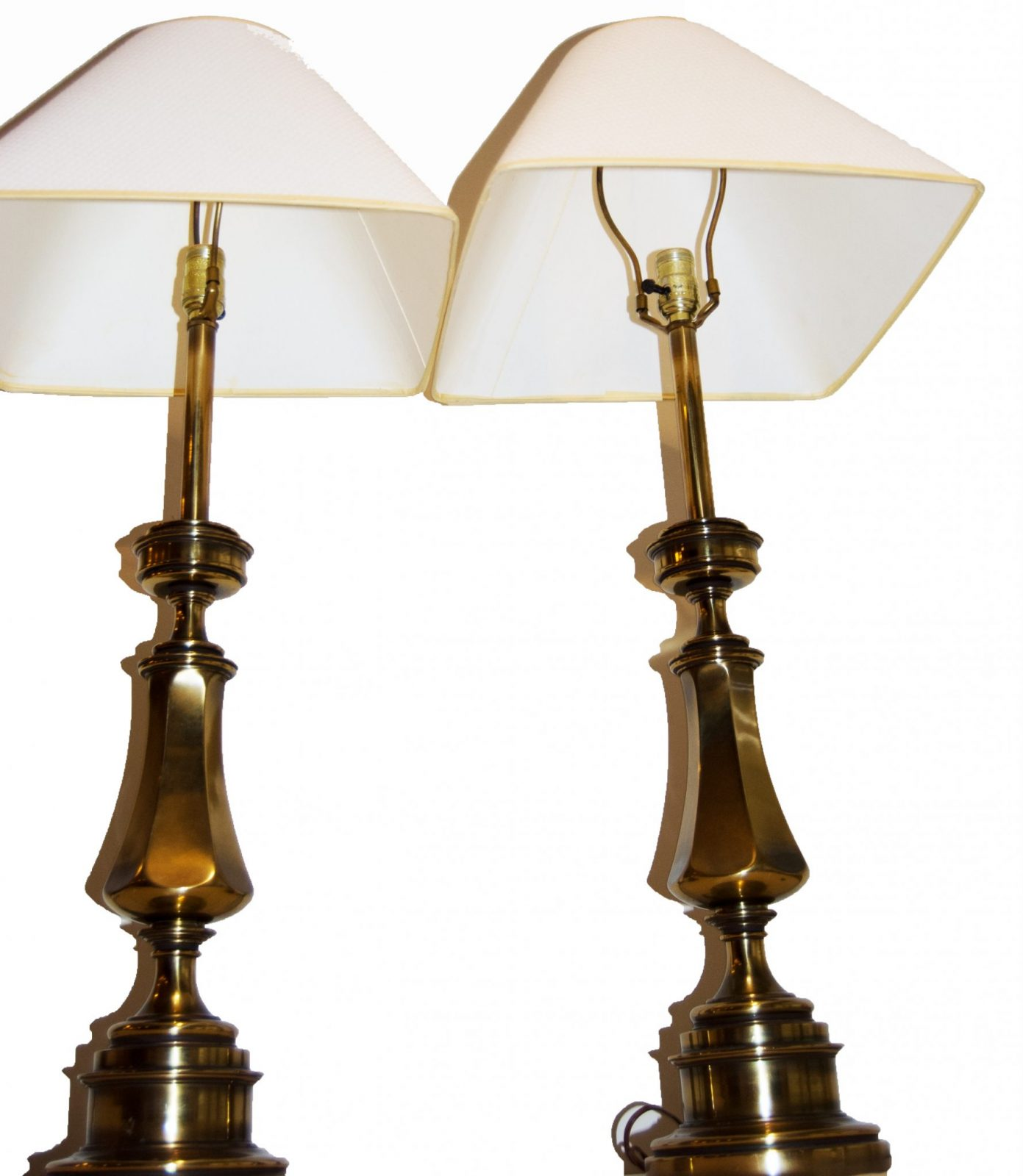High End Table Lamps For Living Room Vintage Matching Brass Stiffel Table Lamps