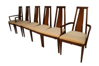 Mid Century Modern Six Walnut Dining Chairs American of ...
