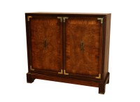 Brass Mounted Mid Century Two Door Cabinet