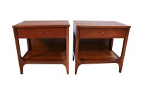 Pair Mid Century Broyhill Brasilia Nightstands End Side ...