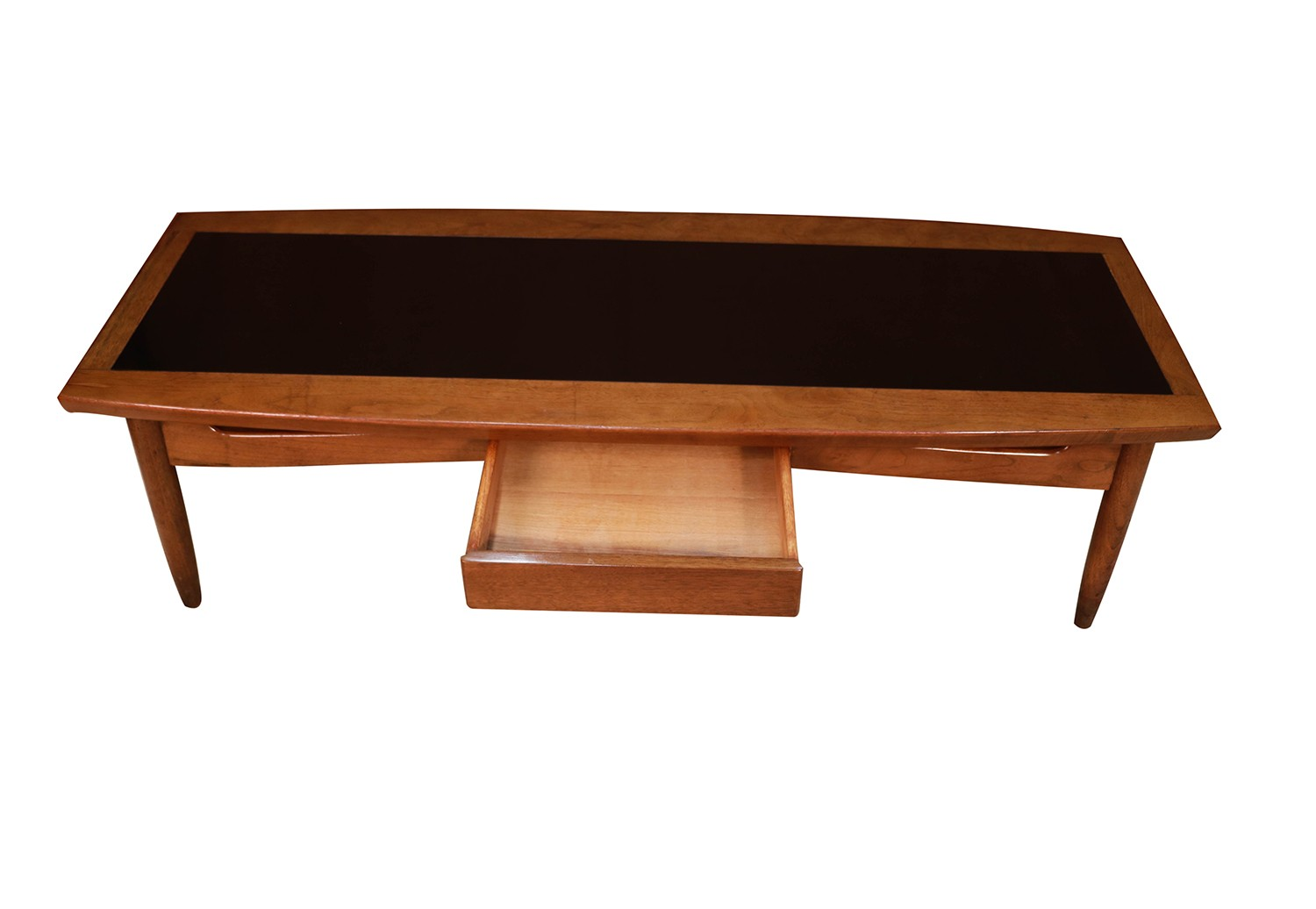 Mid Century Black Coffee Table Mid Century Modern Surfboard Coffee Table American Of