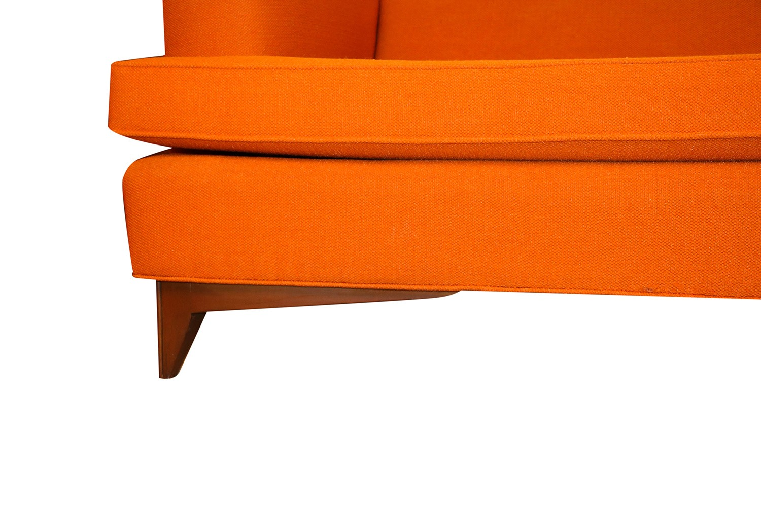 Orange Mid Century Modern Chair Mid Century Modern Orange Upholstered Sofa