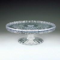 "Crystalware Crystal Cut 10"" Tiered Cake Plate   Plastic ..."