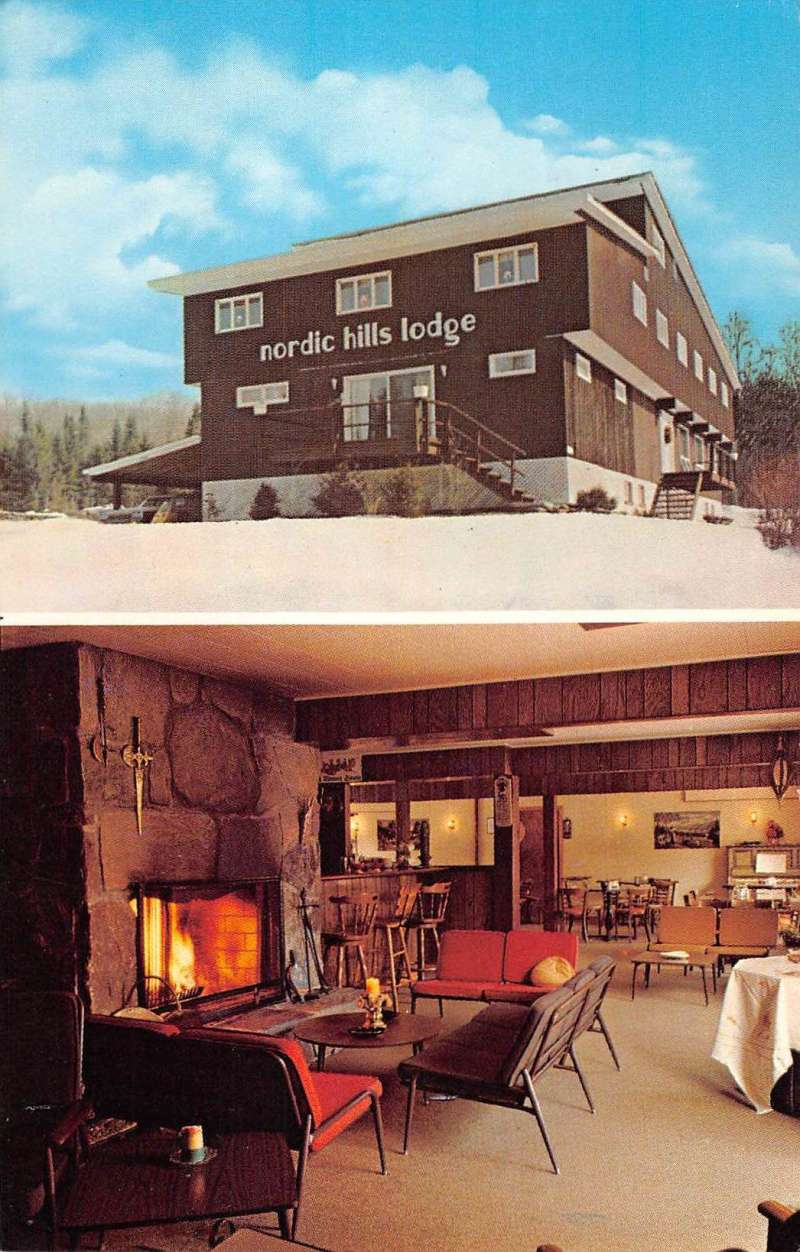 Wilmington Vermont Nordic Hills Lodge Multiview Vintage Postcard K62106 Mary L Martin Ltd Postcards