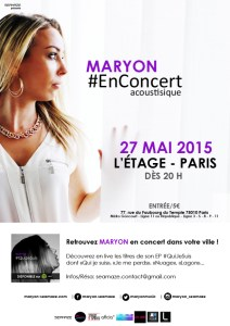 Maryon Corbelli en concert - L'Etage - Paris - 27 mai 2015