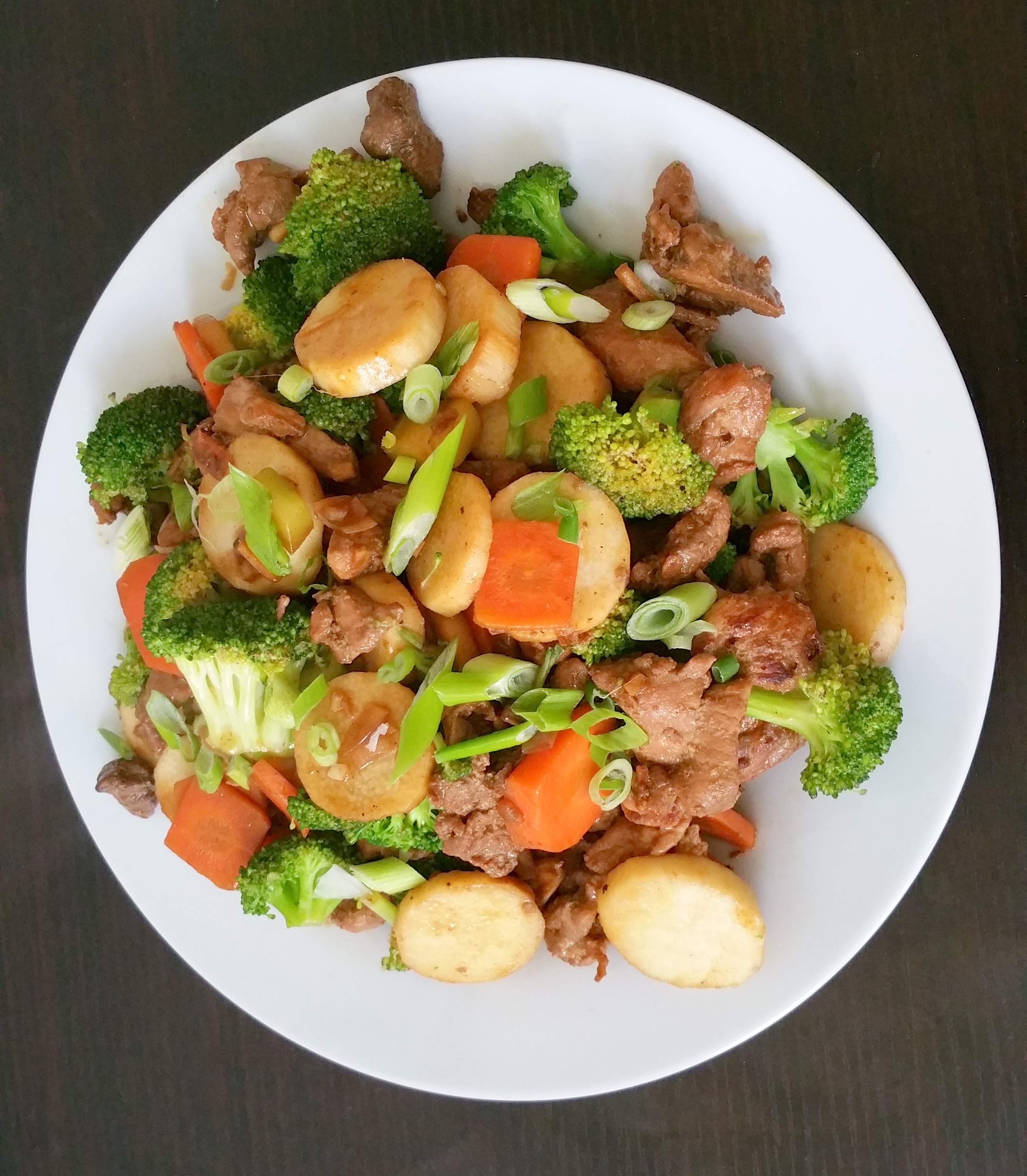 Cuisine Yam Pork Tenderloin Stirfry With Nagaimo