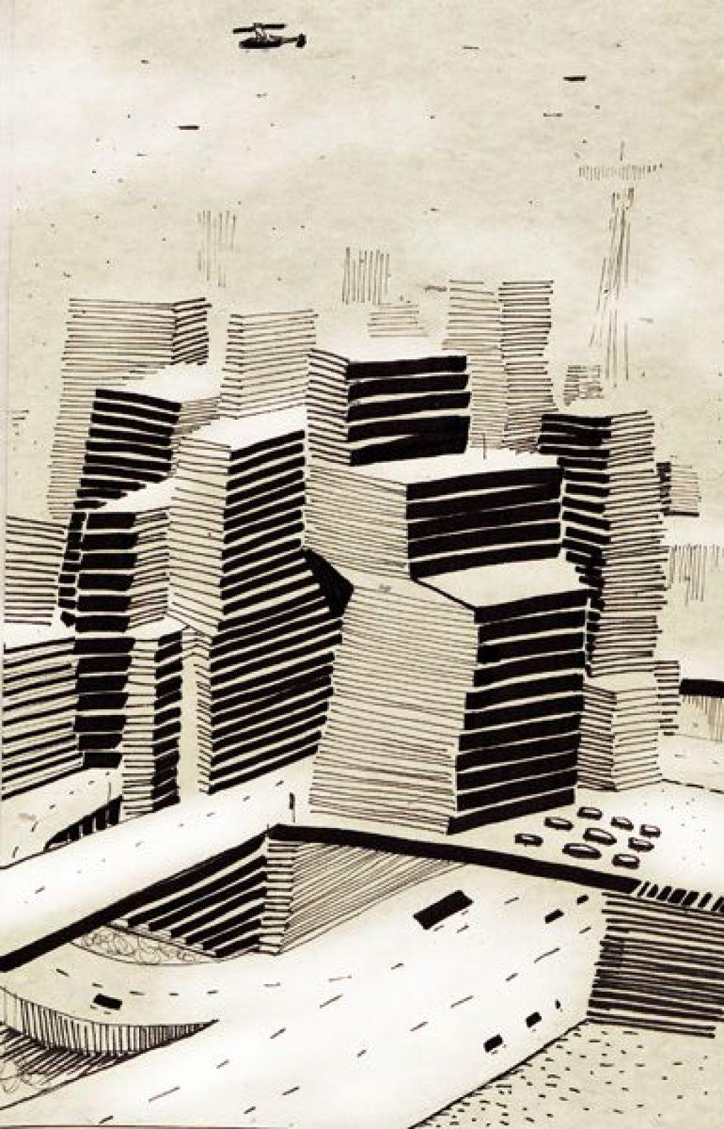 Sketch City Skyscrapers