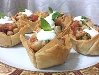 Recipe: Cholay Chaat in Phyllo Pastry Cups