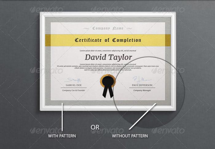 Desain template sertifikat untuk ijazah dan penghargaan award dsb