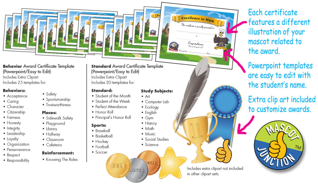 Award Certificates - Mascot Junction - award templates