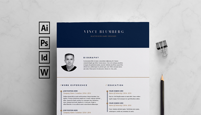 25+ Best Free Indesign Resume Templates (Updated 2018) - free indesign template
