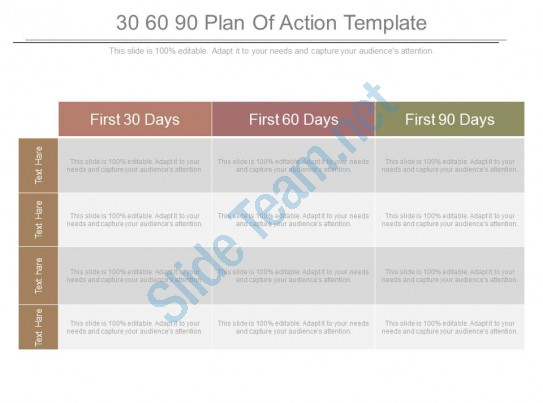 30 60 90 Day Plan Powerpoint Templates for everyone - 30 60 90 day action plan template