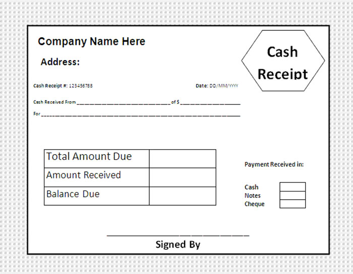 25+ Free Receipt Templates for Microsoft Excel and Word - cash receipt template