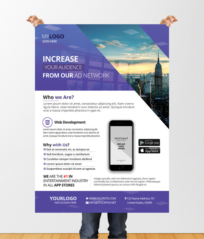 25 Free Business Flyer Templates for Photoshop - Mashtrelo - networking flyers