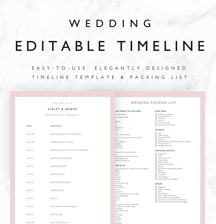 Free Wedding Schedule Template 34 Wedding Timeline Templates Free - wedding schedule templates