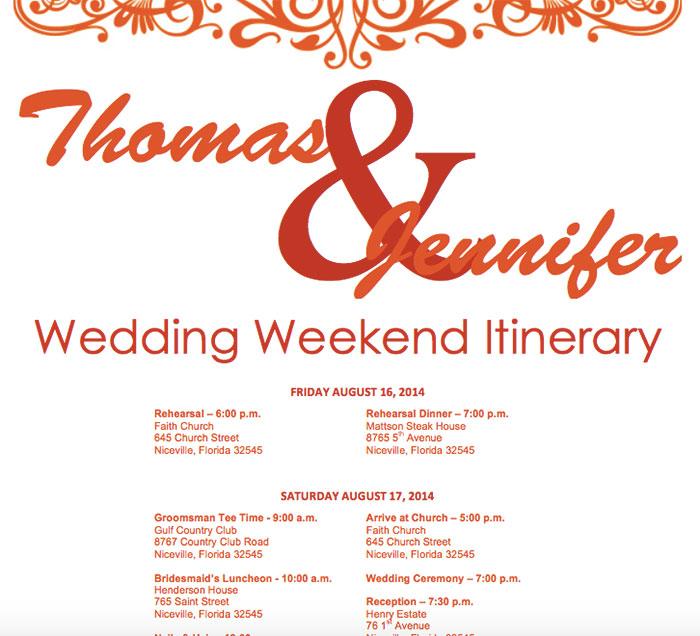 25 Beautiful Wedding Timeline Templates - Mashtrelo