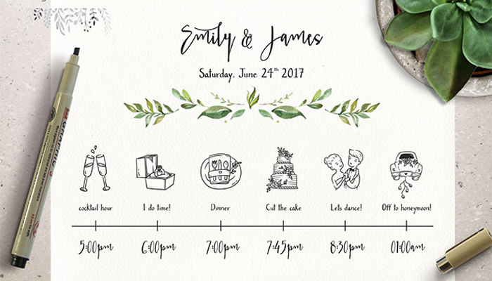 25 Beautiful Wedding Timeline Templates - Mashtrelo - timeline template