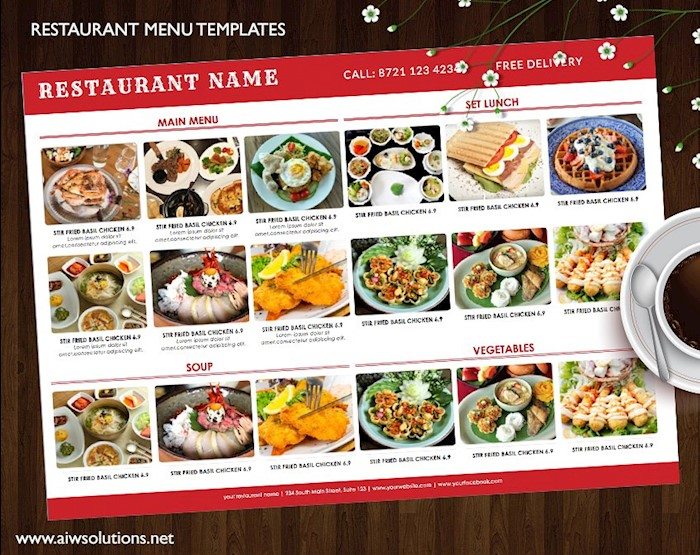 25 Free Restaurant Menu Templates for Word (Updated 2018) - food menu template