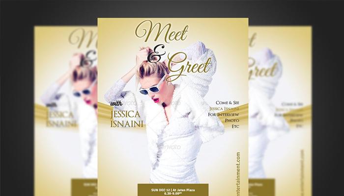 17 Meet and Greet Flyer Templates - Printable Flyer Designs