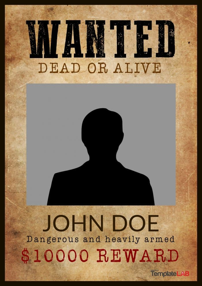 25 Free Wanted Poster Templates (Photoshop, PDF, Google Docs, Word)
