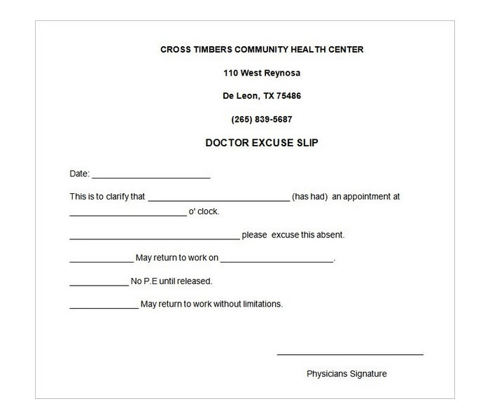 25 Free Printable Doctor Notes Templates for Work (Updated 2018)