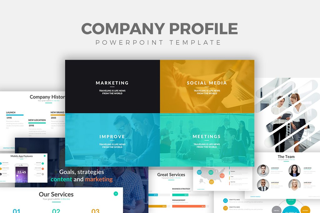 25+ Free Company Profile Powerpoint Templates for Presentations