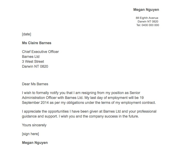 21 Simple Two Weeks Notice Letter (Resignation Templates)