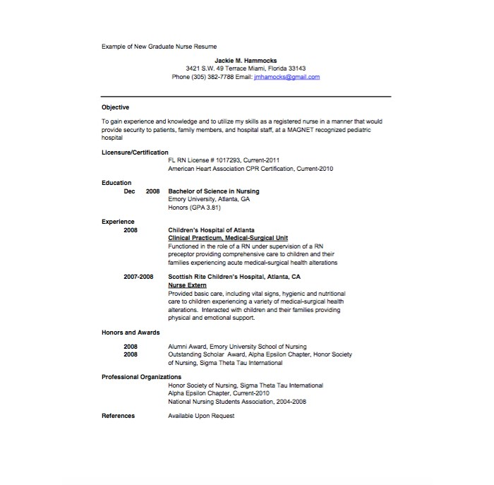 21+ Professional Nursing Resume Templates for 2018