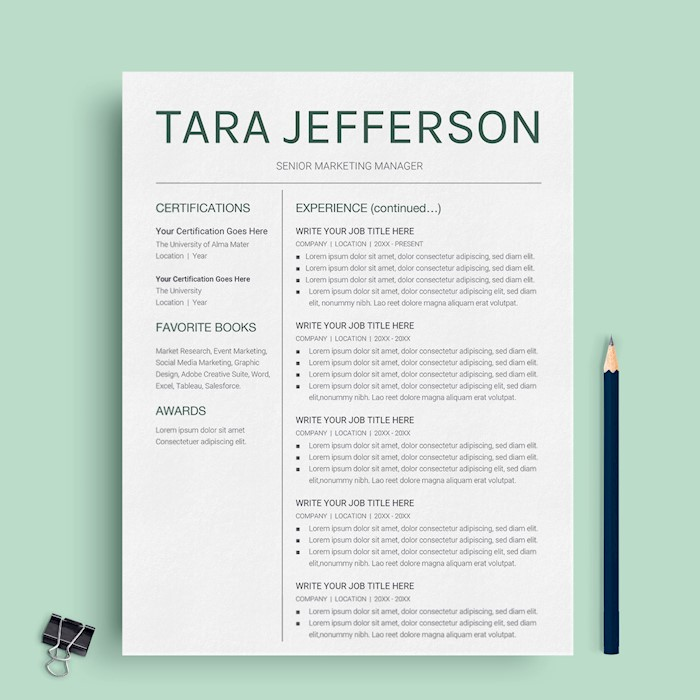 21+ Best Google Docs Resume Templates - Google Drive Examples - Google Docs Resume Templates