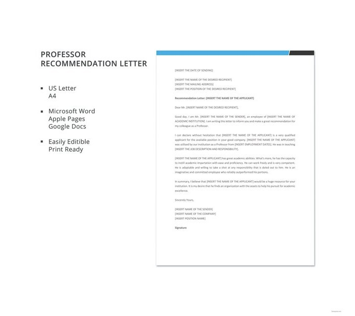Letter of Recommendation for Teacher 15 Templates and Examples - Admiration Letter