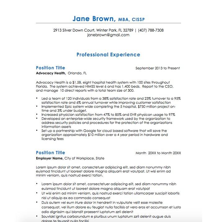 21 Executive Resume Templates to Help You Land the Job