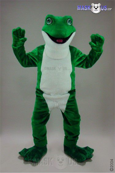 Pizza Roller Frog, Deluxe Adult Size Frog Mascot Costume - 46305
