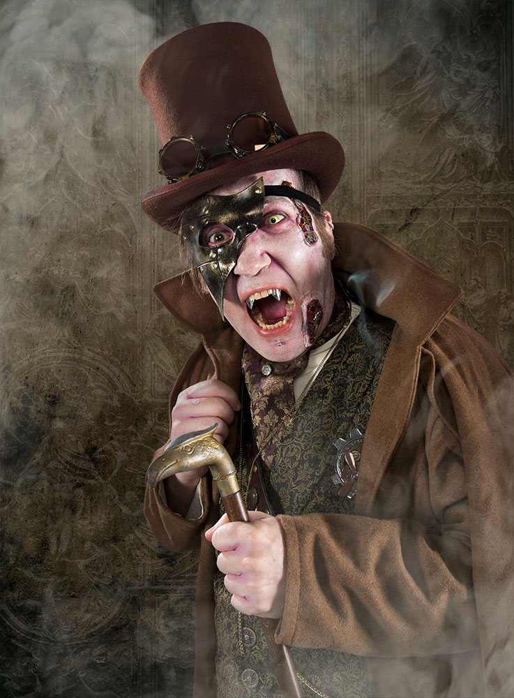 Karneval Make Up Schminktipp: Steampunk Vampir - Maskworld.com
