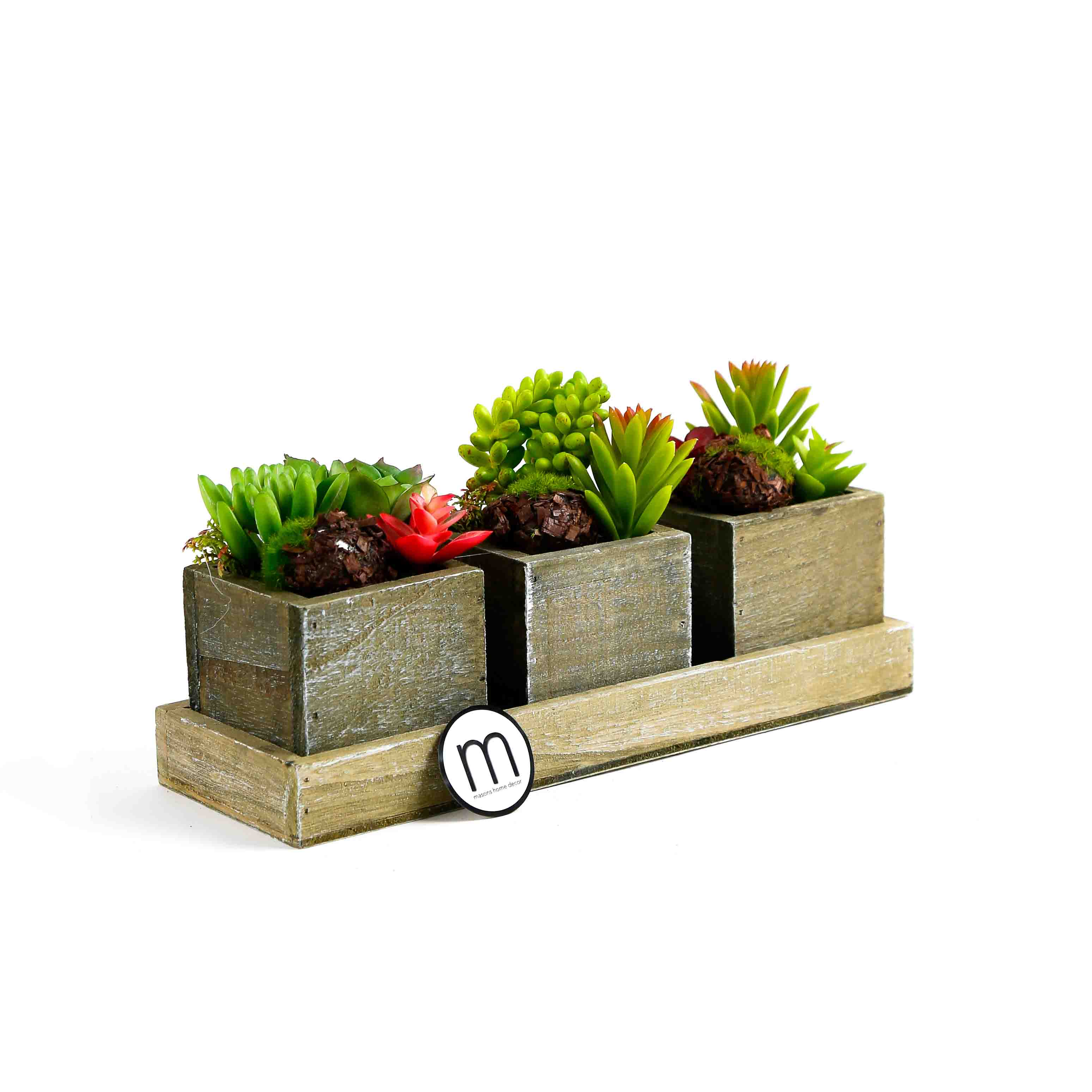 Home Decor Plants Etrusche Artificial Plants In Pots With Tray Masons