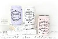 French Painted Mason Jars - Mason Jar Crafts Love