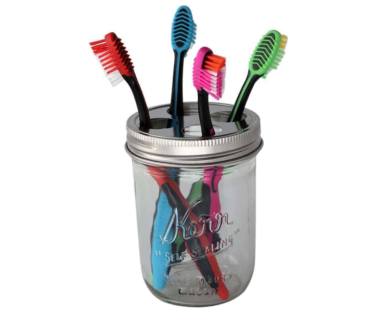 Stainless Steel Toothbrush Holder For Mason Jars