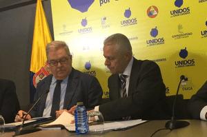 Unidos por Gran Canaria, José Miguel Bravo de Laguna y Paco Pérez (derecha)
