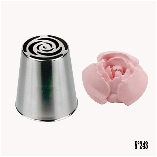 Decoration Pirate Maison Douille Russe Fleur Rose N°243 - De Buyer - Maspatule.com
