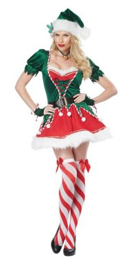 "alt=""santa's helper women's costume"""