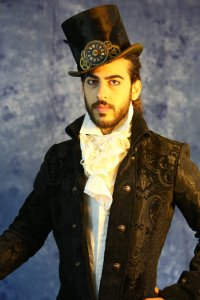 "alt=""steampunk brocade long coat"""