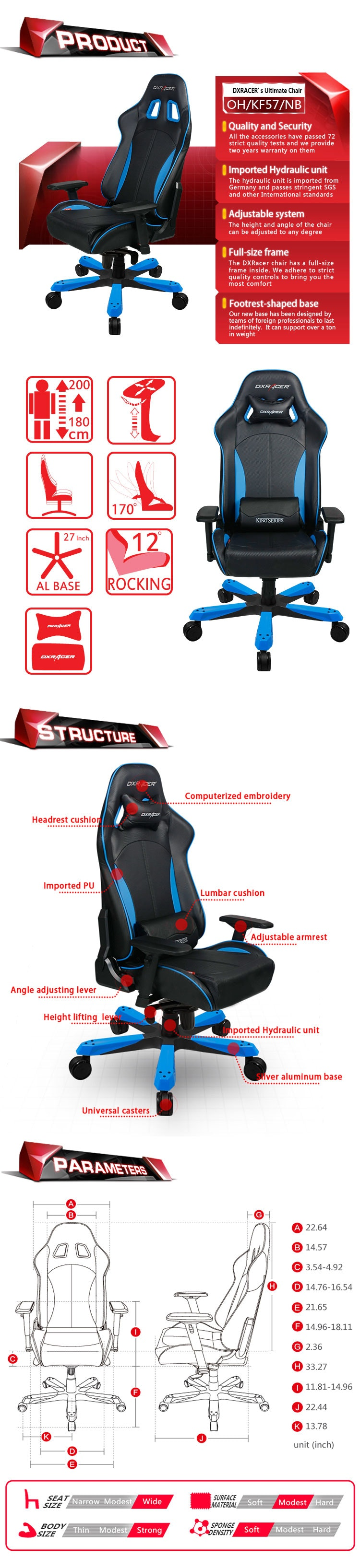 Dxracer Pc Gaming Chair Dxracer King Series Pc Gaming Chair Oh Kf57 Price Reviews