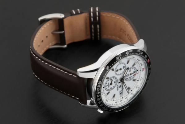 Silver Strap Watches For Men Seiko Pilot Solar Chrono Ssc Watch | Price & Reviews