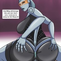 well the robot edi pick is creepy and kinky at the same time