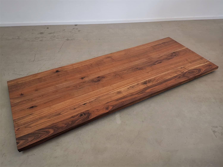 Tischplatte massivholz  Tischplatte Massivholz Nuss